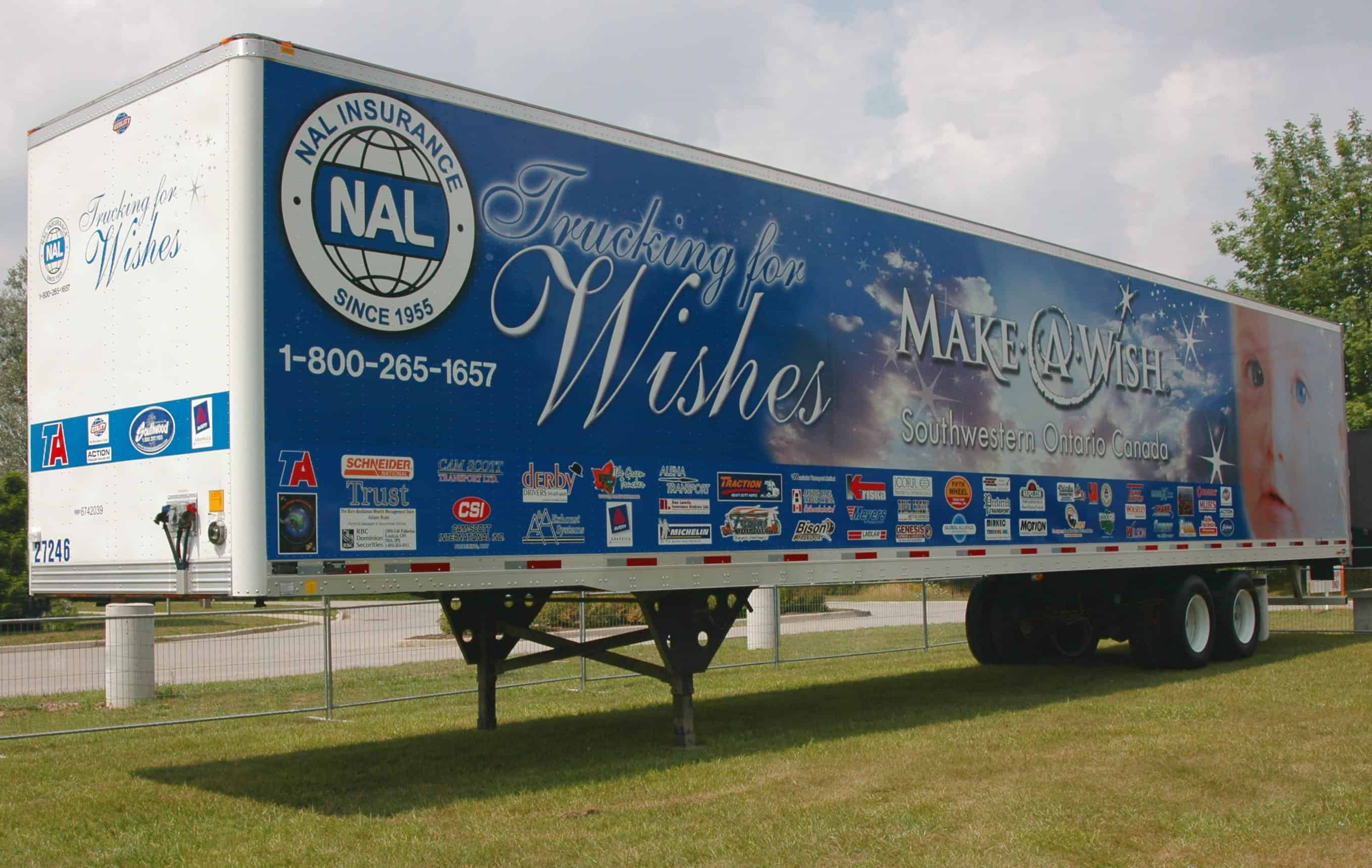 Trucking for Wishes Trailer